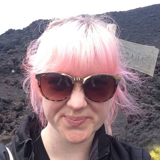 A photo of Leonie on Mount Etna.